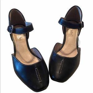 Josef Seibel Black Leather Flat Shoes 37